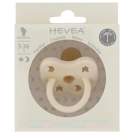 Immagine di Hevea® Ciuccio ortodontico in caucciù Milky White LUNA&STELLE