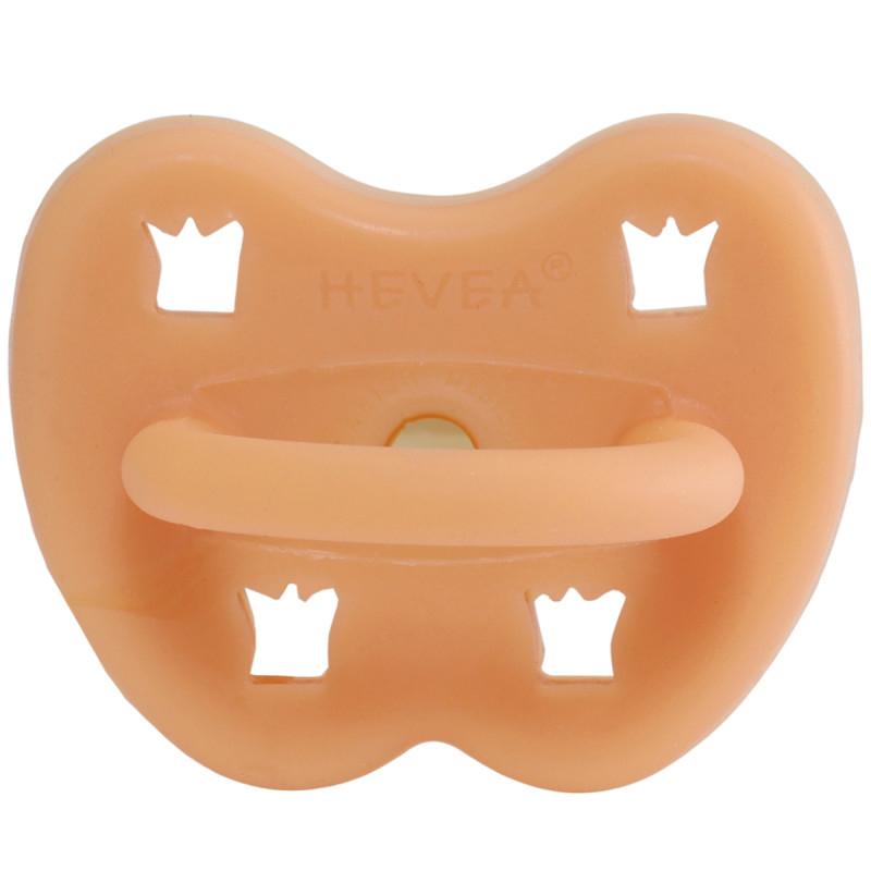 Immagine di Hevea® Ciuccio ortodontico in caucciù Cantaloupe CORONA