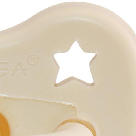 Immagine di Hevea® Ciuccio in caucciù Milky White LUNA&STELLE