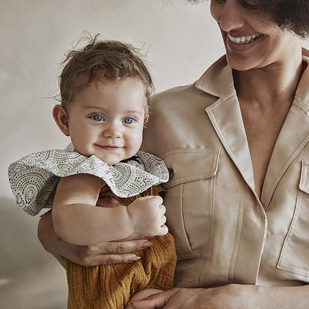 Immagine di Elodie Details® Pierrot Bavaglino in cotone Desert Rain
