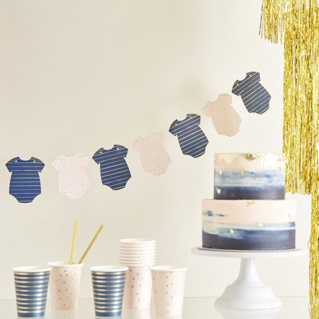 Immagine di Ginger Ray® Ghirlanda baby shower Pink/Navy
