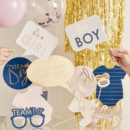 Immagine di Ginger Ray® Foto set Gender Reveal