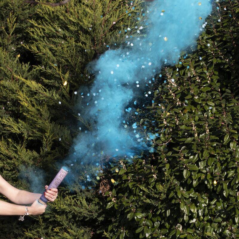 Immagine di Ginger Ray®  Spara coriandoli Blue Smoke