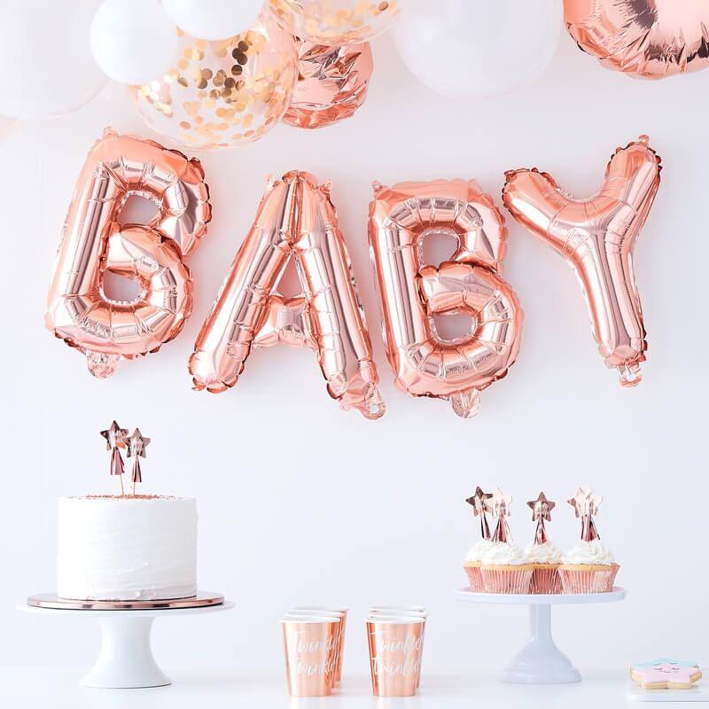 Immagine di Ginger Ray® Ghirlanda di palloncini Baby Rose Gold