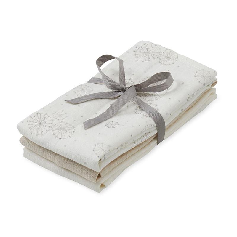 Immagine di CamCam® Teli per fasciare Mix Dandelion Natural, Light Sand, Creme White 70x70 3 pezzi