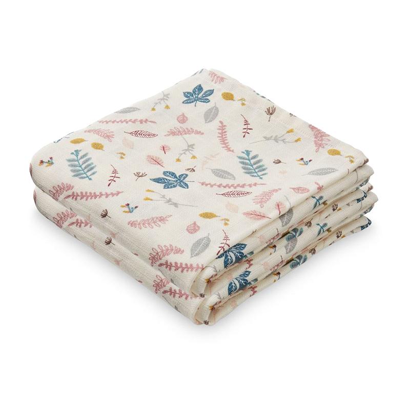 Immagine di CamCam® Set di pannolini tetra Pressed Leaves Rose 70x70