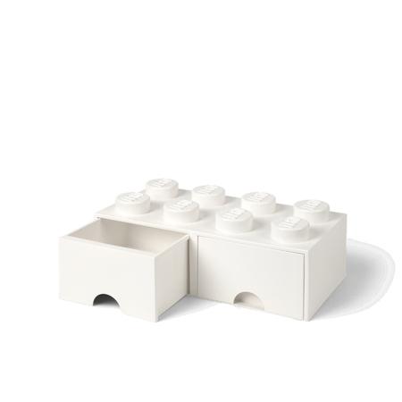 Immagine di Lego®  Cassetto a forma di mattoncino 8 White