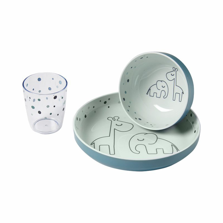 Immagine di Done by Deer® Yummy Set pappa Dreamy dots Blue