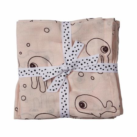 Immagine di Done by Deer® Set 2 di pannolini tetra  Sea friends Powder 70x70