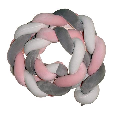 Immagine di iBaby®  Paracolpi a treccia Rosa 300 cm
