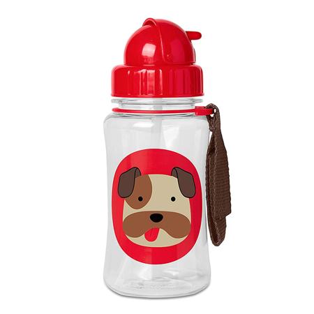 Immagine di Skip Hop® Borraccia con cannuccia Cagnolino Bulldog