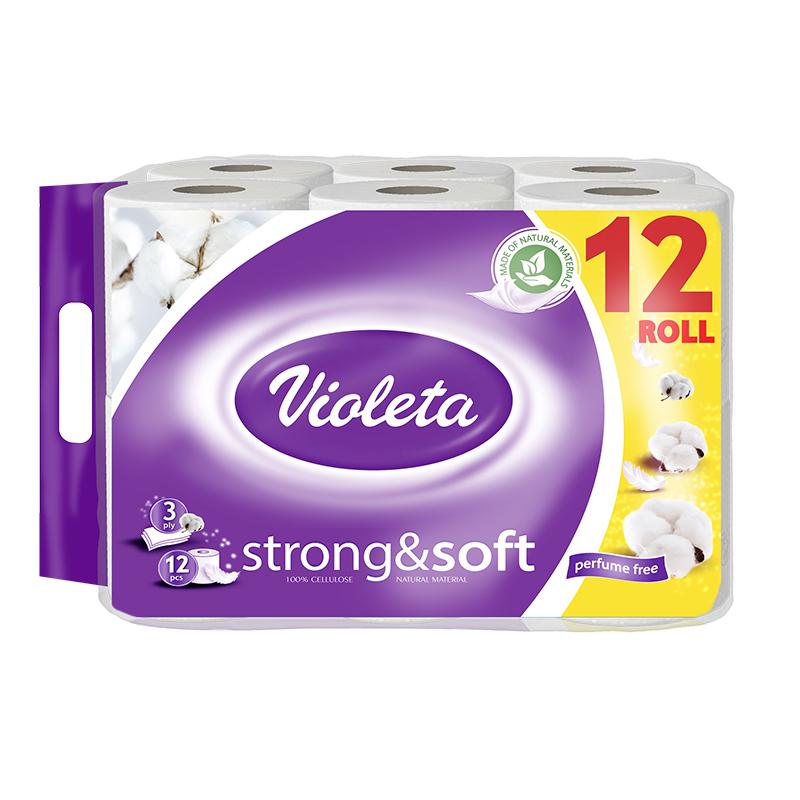 Immagine di Violeta® Carta igienica Strong&Soft cotone 12/1 3SL