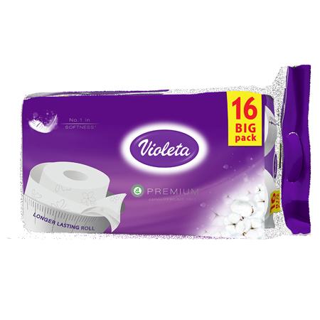 Immagine di Violeta® Carta igienica Premium Cotone 16/1 3SL