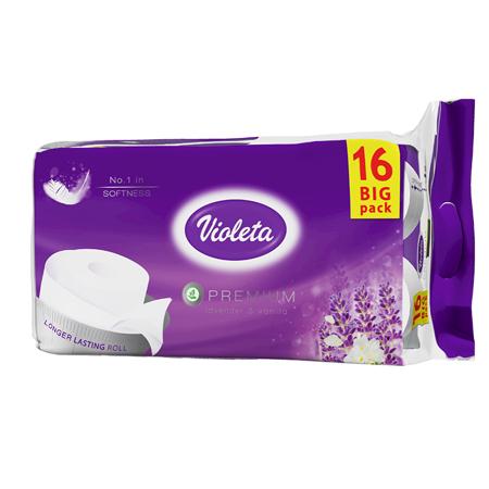Violeta® Carta igienica Premium Lavanda 16/1 3SL