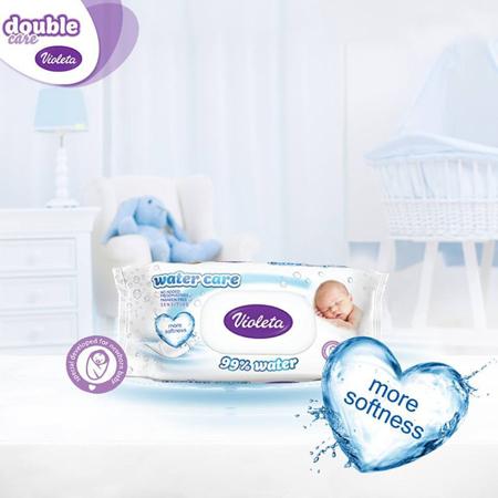 Violeta® Salviettine umidificate Water Care 3x56/1