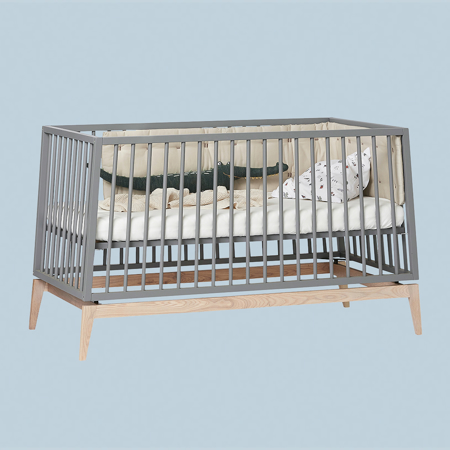 Leander® Lettino Luna™ 140x70 cm Grey/Oak