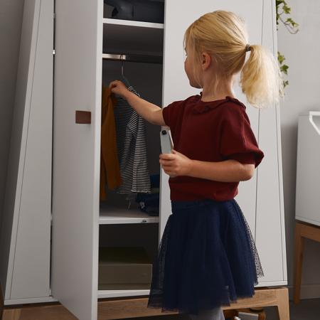 Immagine di Leander® Armadio bambini Luna™ Small White/Oak
