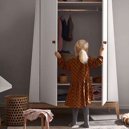 Immagine di Leander® Armadio bambini Luna™ Large White/Oak
