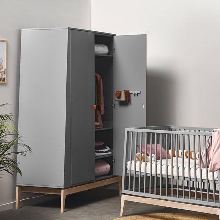 Immagine di Leander® Armadio bambini Luna™ Large Grey/Oak