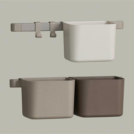 Leander® Organizzatore 3 pz e cremagliera corta 2 pz Cappuccino
