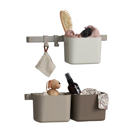 Immagine di Leander® Organizzatore 3 pz e cremagliera corta 2 pz Cappuccino
