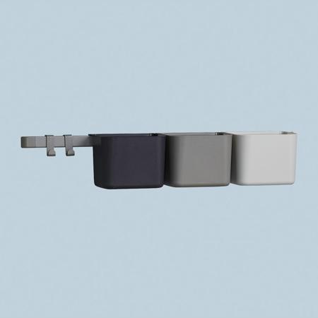 Leander® Organizzatore 3 pz e cremagliera lunga 1pz Dusty Grey