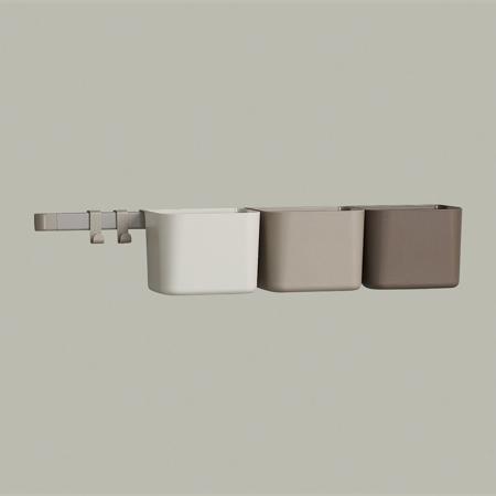 Leander® Organizzatore 3 pz e cremagliera lunga 1pz Cappuccino