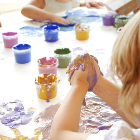 Immagine di Neogrün® Colore a dita 120g Yellow