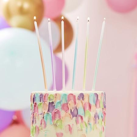Immagine di Ginger Ray® Candele torta alte Ombre 12 pz.
