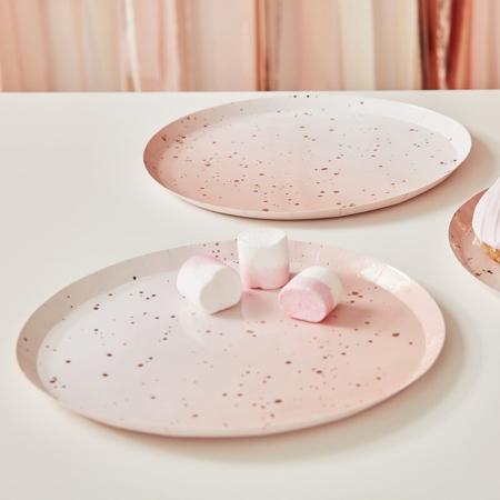 Immagine di Ginger Ray® Piatti con foglio Ombre Rose Gold 8 pezzi