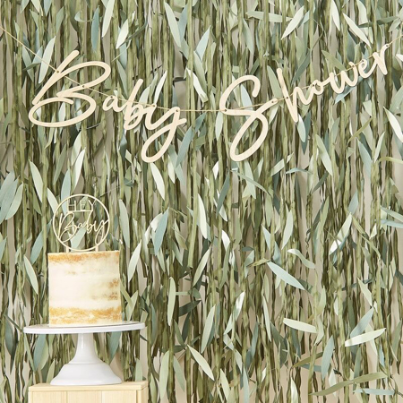 Immagine di Ginger Ray® Ghirlanda in legno Baby Shower Botanical
