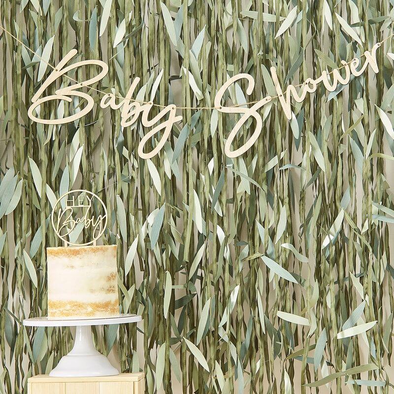 Immagine di Ginger Ray® Ghirlanda in legno Baby Shower Botanical