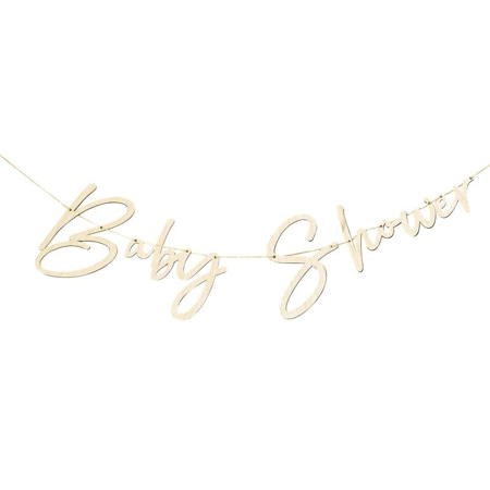 Ginger Ray® Ghirlanda in legno Baby Shower Botanical