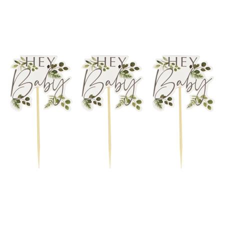 Ginger Ray® Decorazioni per dolcetti Hey Baby Botanical 12 pezzi