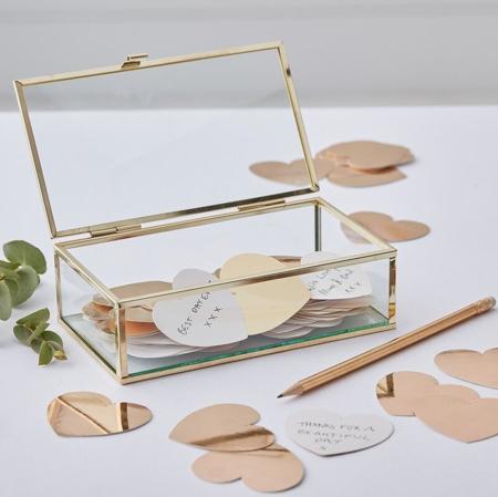 Immagine di Ginger Ray® Scatola in vetro Gold