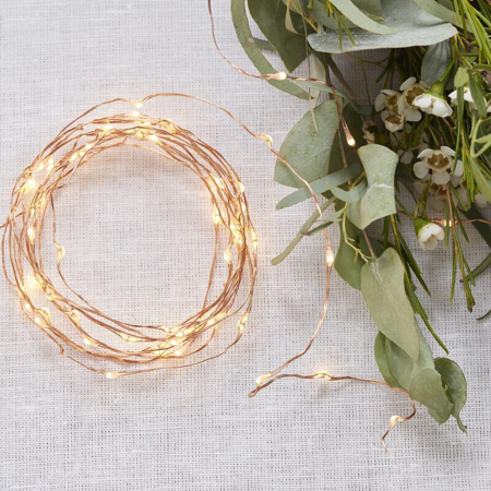 Ginger Ray® Luci a LED cordoncino Rose Gold 3m