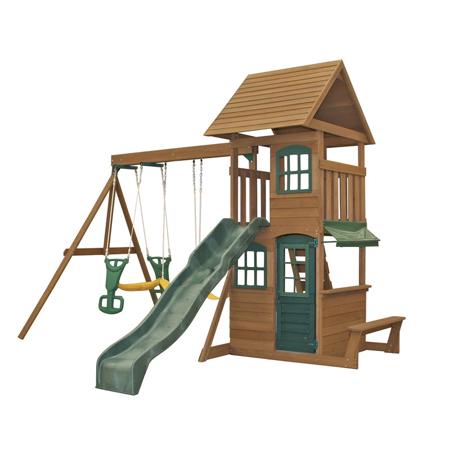 Immagine di KidKraft® Parco giochi con altalena e scivolo Windale