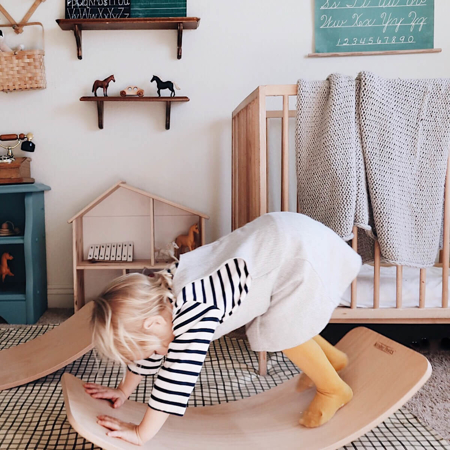 Immagine di Kinderfeets® Kinderboard Montessori Mustard