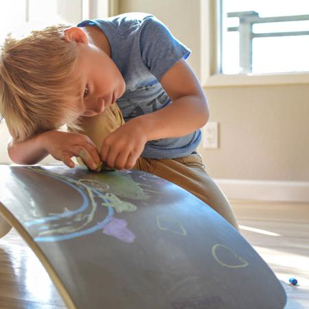 Immagine di Kinderfeets® Kinderboard Montessori Chalkboard Gray