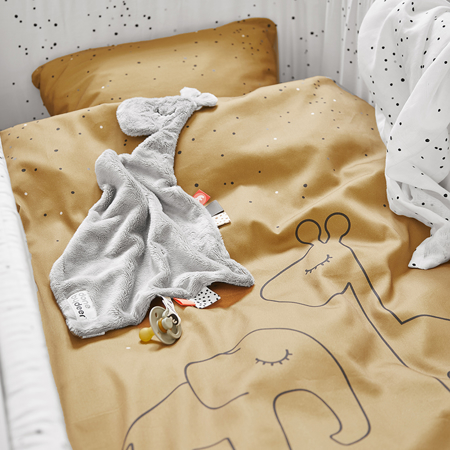 Done by Deer® Biancheria da letto Dreamy Dots Baby Mustard 70x100