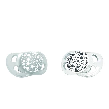 Immagine di Twistshake® 2x Ciucci Grey&White (0+/6+) - 0-6 M