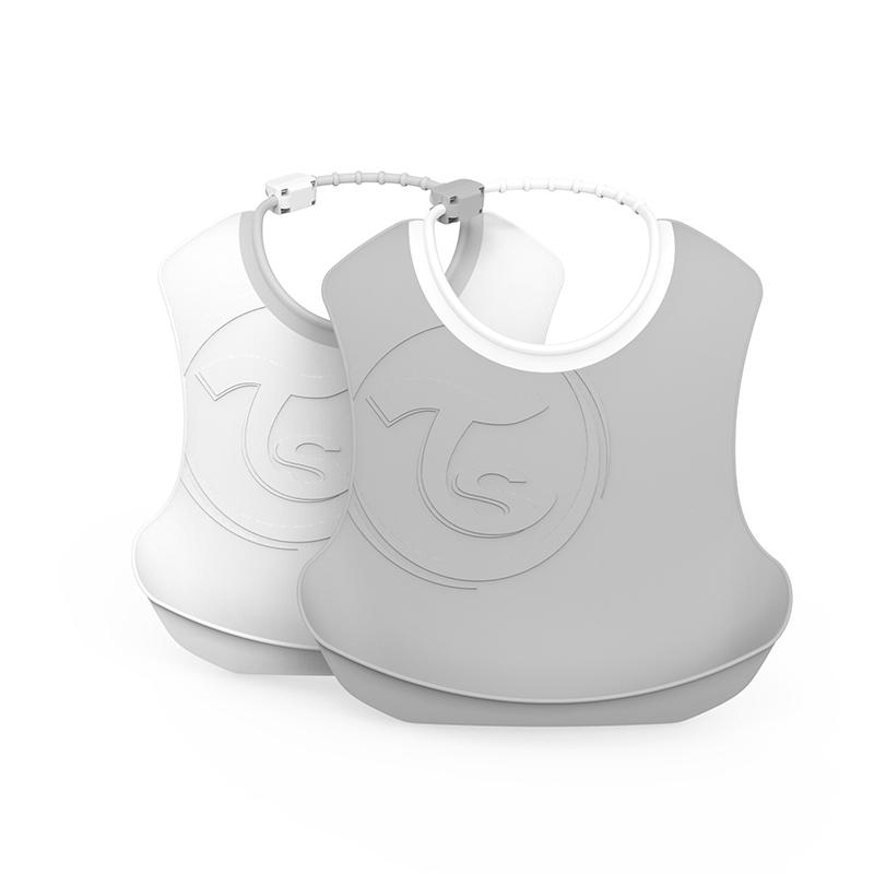 Immagine di Twistshake® Due bavaglini Pastel Grey&White (4+m)
