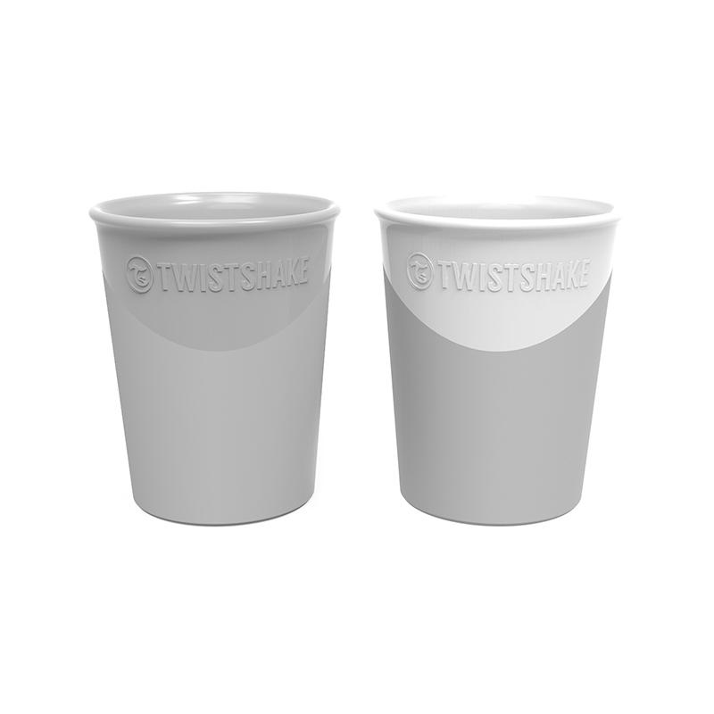 Immagine di Twistshake® Set 2 bicchieri Grey&White 170ml (6+m)