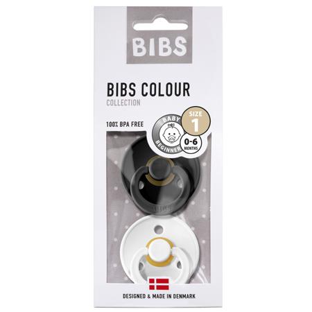 Bibs® Ciuccio Black & White (0-6m)