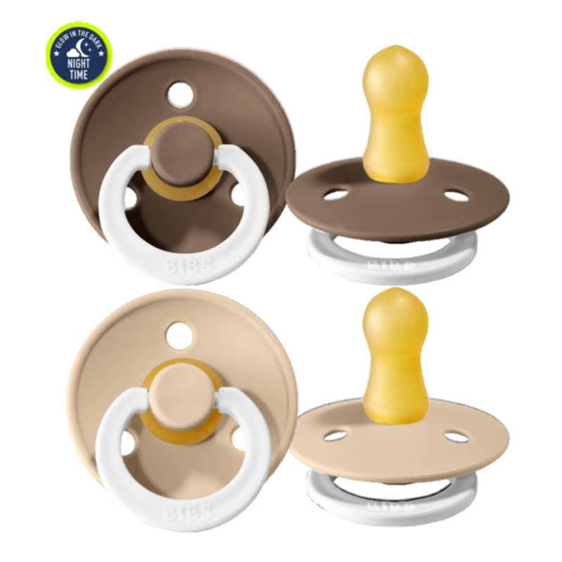 Immagine di Bibs® Ciuccio Night Dark Oak & Vanilla 2 (6-18m)