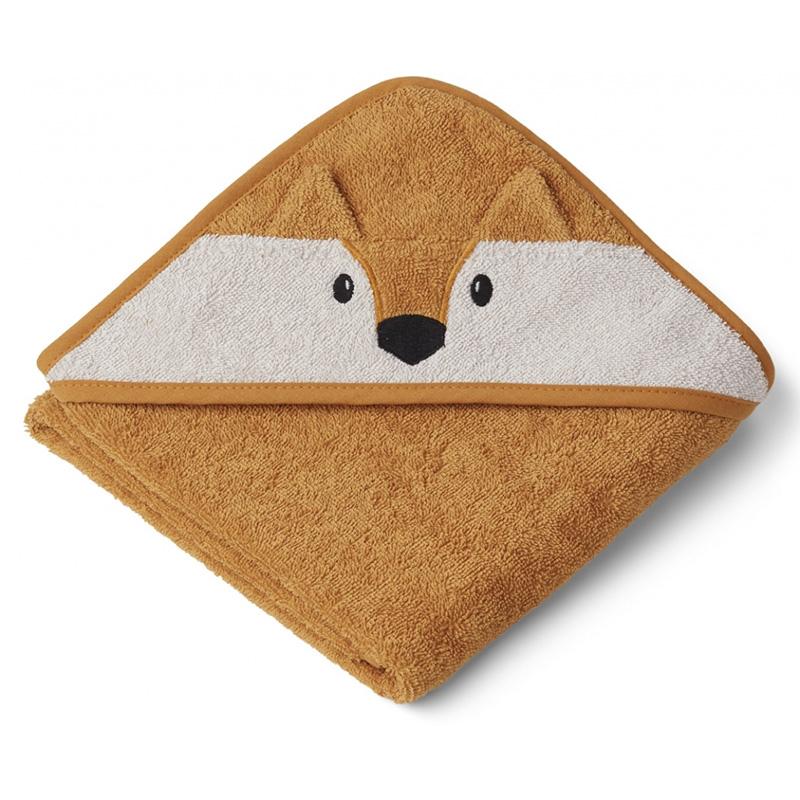 Immagine di Liewood® Asciugamano con cappuccio Fox Mustard 70x70