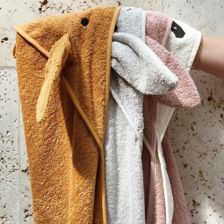 Immagine di Liewood® Asciugamano con cappuccio Penguin Stone Grey 70x70