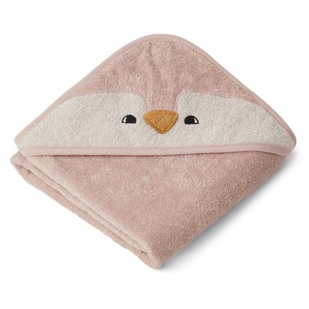 Immagine di Liewood® Asciugamano con cappuccio Penguin Rose 70x70