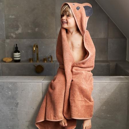 Liewood® Asciugamano con cappuccio Penguin Stone Grey 100x100