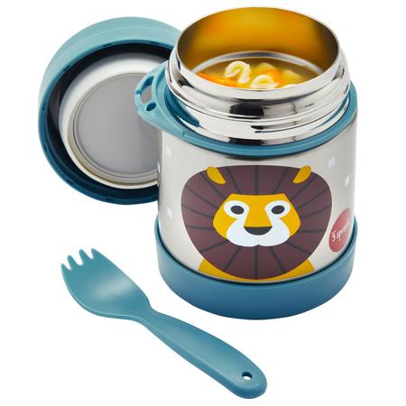 3Sprouts® Contenitore thermos cucchiaio/forchetta leone